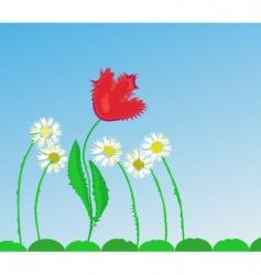 tulip crazy vector image