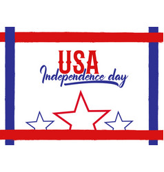 usa independence day beautiful lettering vector image