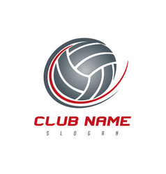 volleyball logo vector image
