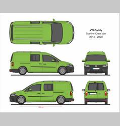 vw caddy starline maxi crew 2015-present vector image