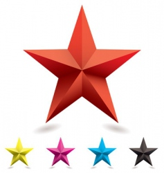 Web icon star shape vector