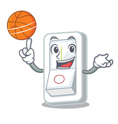 with basketball light switch in the cartoon shape vector image