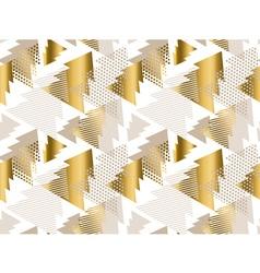 xmas tree luxury pastel color seamless pattern vector image