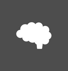 brain icon on dark background vector image vector image