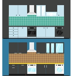 Different kitchen composition vector image vector image