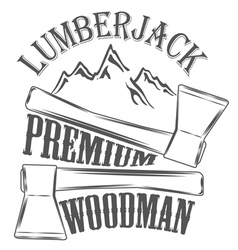 Lumberjack woodman logo and pictures vector image vector image