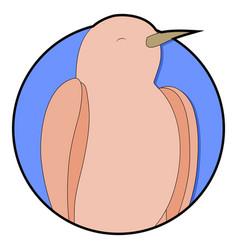 nightingale sticker icon cartoon vector image vector image