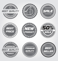 product and sale label vector image vector image