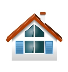 small house with Windows vector image