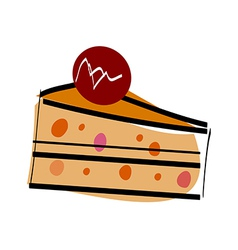 A piece of cake vector image