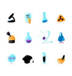 Bright science icons vector image vector image