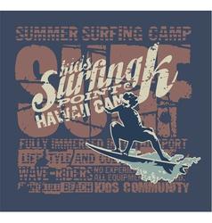 Hawaii surfing camp vector image
