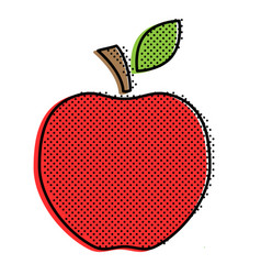 Red stylized apple vector