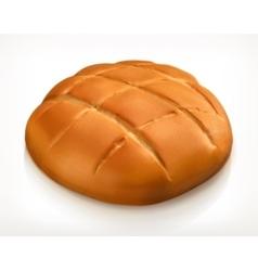Round bread icon vector