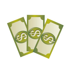 set collection banknote with dollar sign vector image