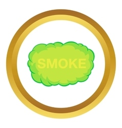 Smoke cloud icon vector