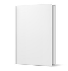 white book on white background for design vector image vector image