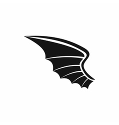 Wing icon in simple style vector image