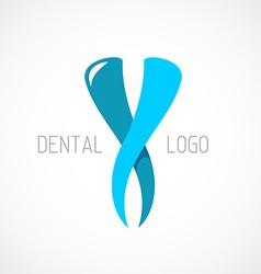 Dental logo template Stomatology sign vector image