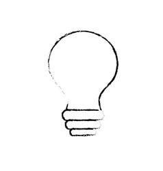 figure electricity bulb innovation to illuminated vector image vector image