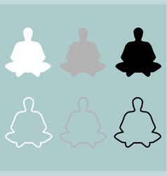 meditation man or person icon vector image vector image