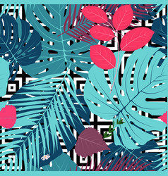 summer abstract seamless pattern background with vector image vector image