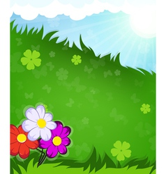 Flowers in the meadow vector image vector image