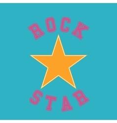 rock star typography t-shirt graphics vector image