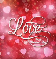 Valentines love background vector image