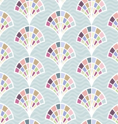 Abstract seamless pattern with shell vector