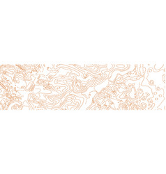 Abstract topographic map on white vector