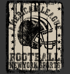 American football varsity t shirt graphics vector