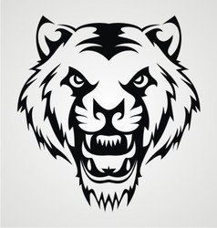 Angry Tiger Face Tribal vector image