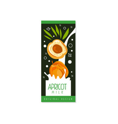Apricot milk logo original design label for vector