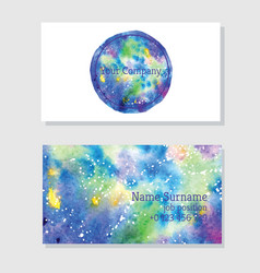 Art of watercolor stains of paint on watercolor vector