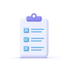Assignment icon clipboard checklist document vector