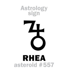 Astrology asteroid rhea vector