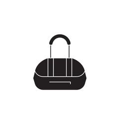 athletic bag black concept icon athletic vector image