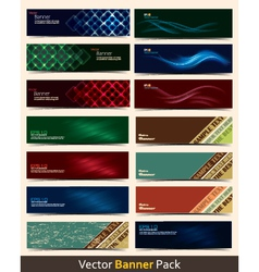 Banner pack vector