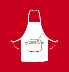 black kitchen aprons vector image