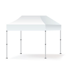 Blank outdoor marquee tent booth mock up vector