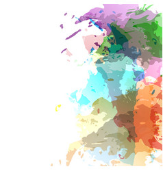 bright modern watercolor stain composition vector image