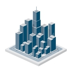 Business isometric vector
