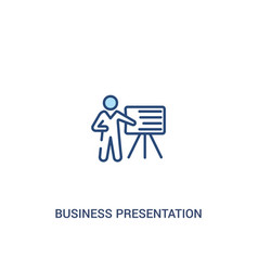 Business presentation concept 2 colored icon vector