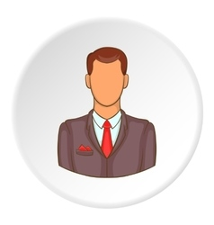 Businessman icon flat style vector image