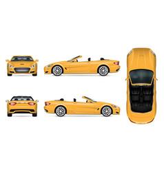 cabriolet car mockup vector image