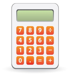 Calculator isolated vector