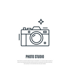 camera line art style vector image