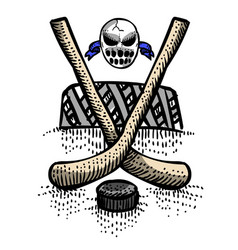 Cartoon image of hockey icon sport symbol vector