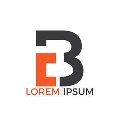 cb letter logo design vector image